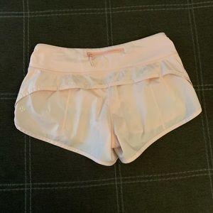 Lululemon blush quartz shimmer speed up shorts 4